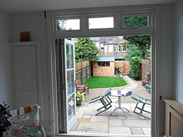Patio door open
