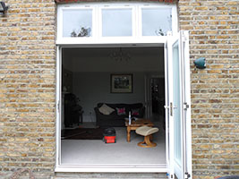 Patio doors open